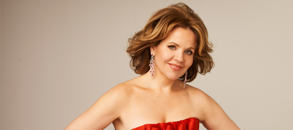 Renée Fleming poses for a picture